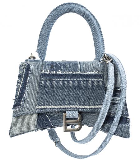 Balenciaga Hourglass Small Denim Bag-Blue