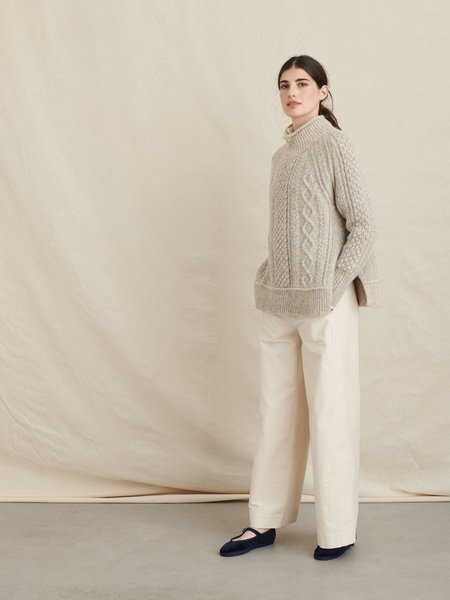 Alex Mill Camil Cable Sweater - natural