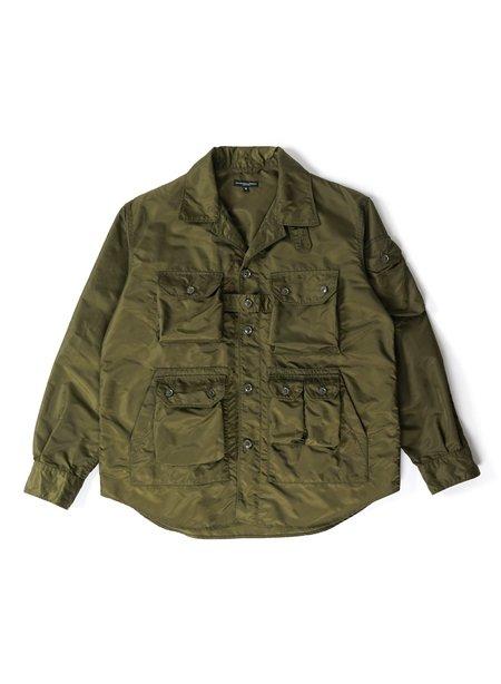 Engineered Garments Flight Satin Nylon Explorer Shirt Jacket - Olive