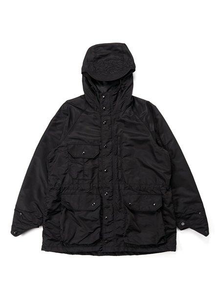 Engineered Garments Flight Satin Nylon Field Parka - Black