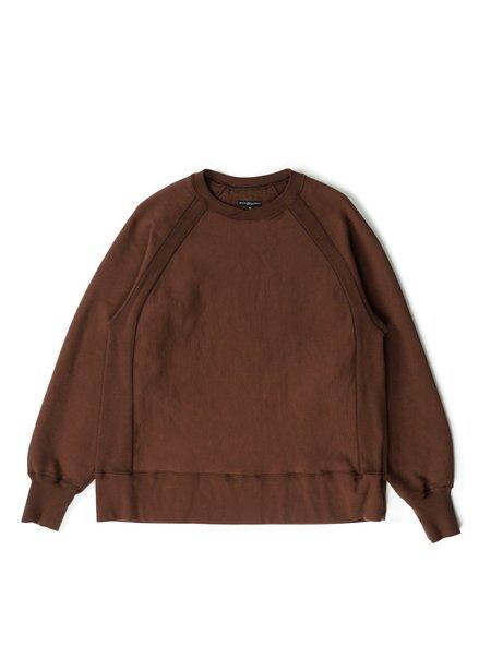 Engineered Garments Cotton Heavy Fleece Raglan Crew - Brown