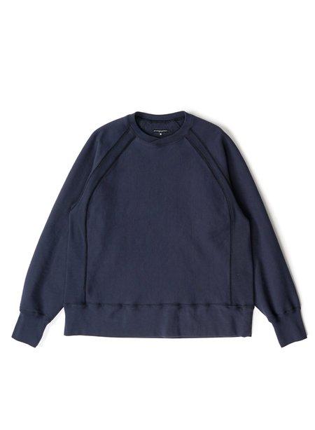 Engineered Garments Cotton Heavy Fleece Raglan Crew - Navy