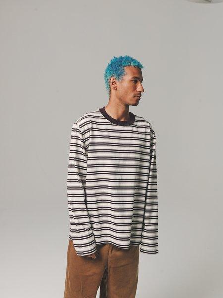 Camiel Fortgens Jersey Long Sleeve Big Tee - Brown Striped