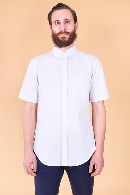 Outclass Short sleeve shirt in white matrix