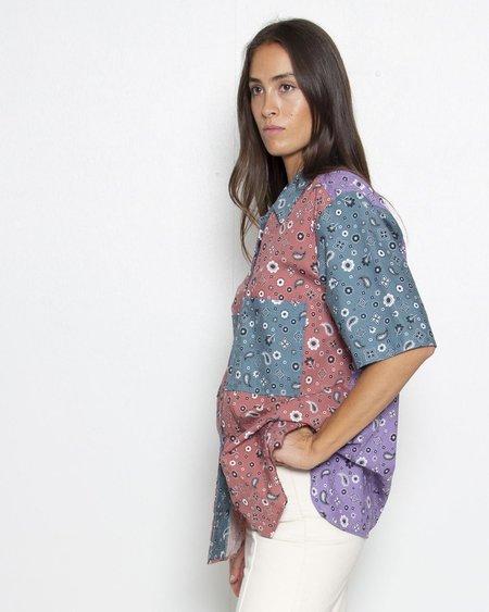 KURT LYLYE Patti Shirt - Color-block Bandana