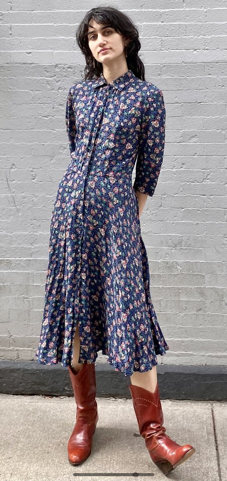 Vintage 1990s Multicolor Flower Dress