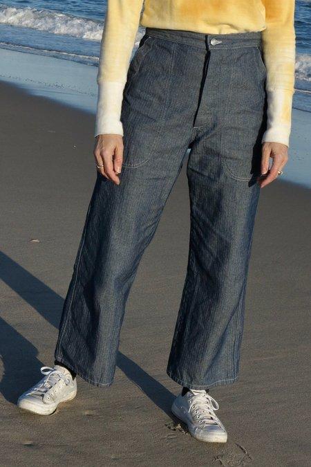 UQNATU Sailor Pant - Indigo Herringbone