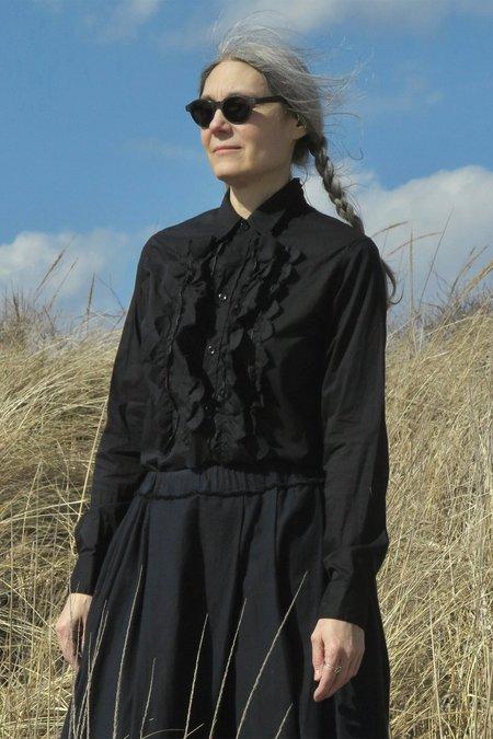 UQNATU Tulip Tuxedo Shirt - Black