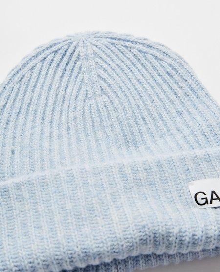 Ganni Recycled Wool Heather Beanie - blue
