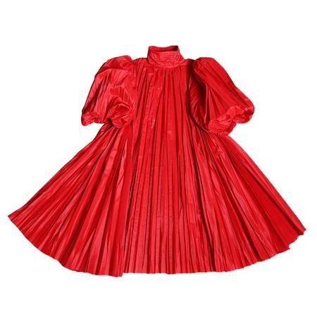 Kids Tia Cibani  Child Harriet Pleated Frock Dress - Red
