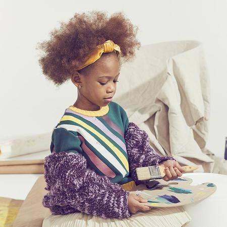 Kids Tia Cibani  Jennifer Braided Velvet Hairband - Jellybelly Yellow