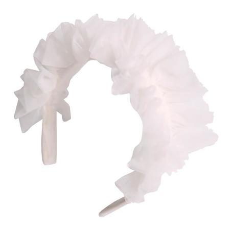Kids Tia Cibani Stella Flouce Tulle Hairband - Opal Cream