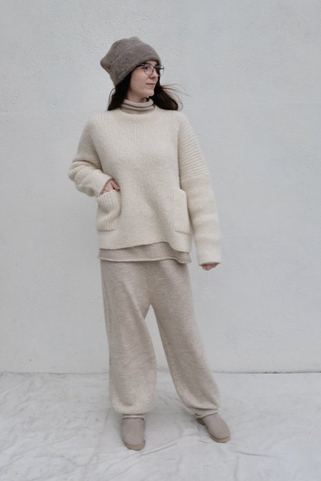 Lauren Manoogian Rib Pocket Pullover - Raw White