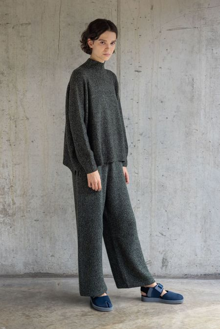 Oyuna Ess Knitted Cashmere and Silk Pullover - Moss
