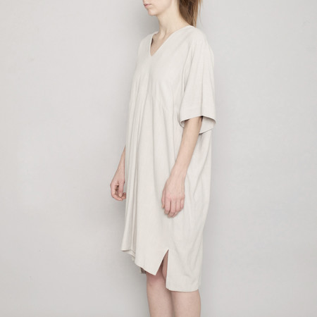 7115 by Szeki V-Neck Dolman Dress - Sand