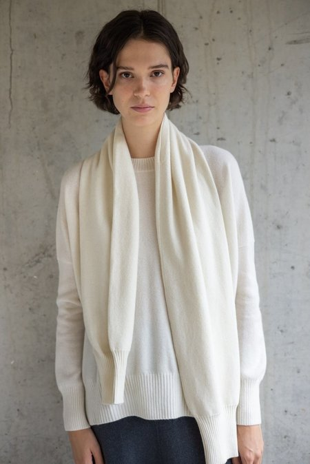 UNISEX Oyuna centia cashmere shawl - ivory