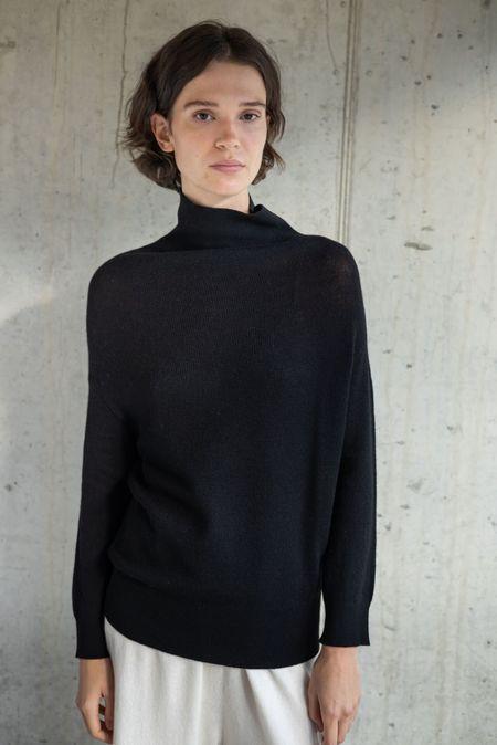 Oyuna melfi sweater - black