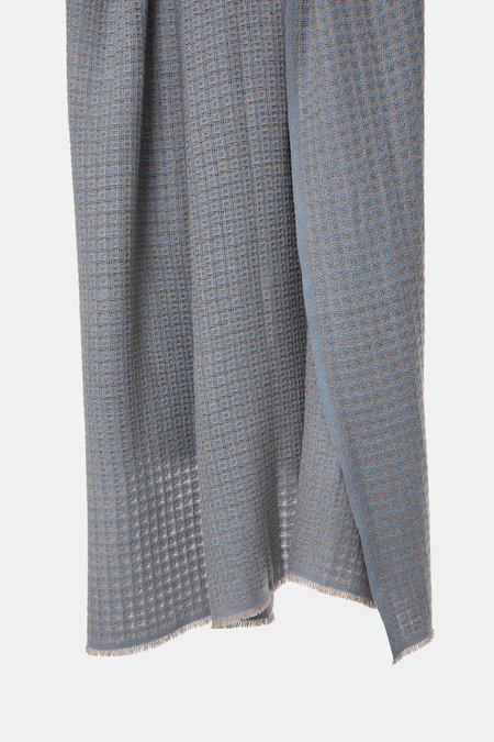 Oyuna Quadro Cashmere Throw - Air/Taupe