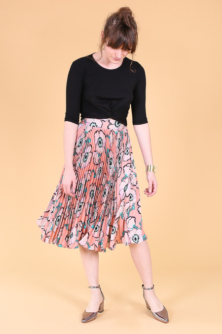 Tucker The Pleated Midi Skirt in Big Bloom