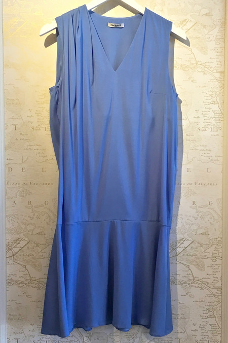 Cacharel Silk V-Neck Drop Waist Dress
