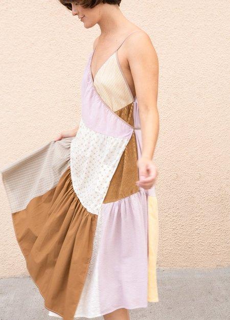 La Reunion Wrap Style Dress -NEUTRAL