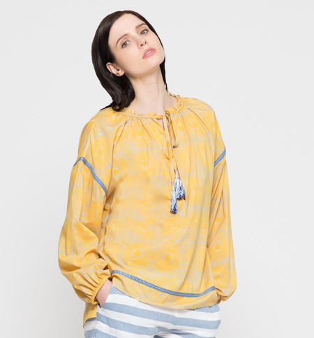 Lemlem Makena Poet Shirt Yellow