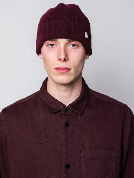 Folk Wool Cashmere Beanie - Oxblood