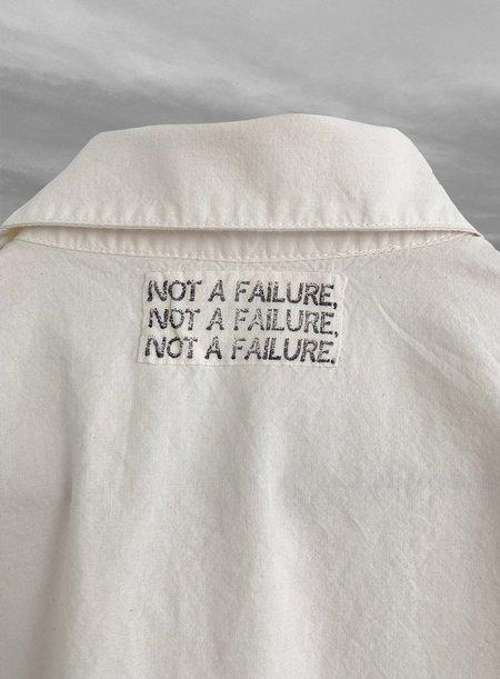 ubisex A Slow Future Not A Failure Camp Shirt - white