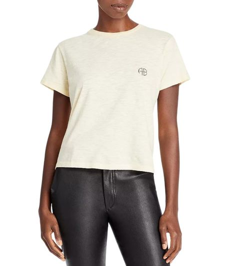 Anine Bing Levy Tee Motorcycle Club- Off White