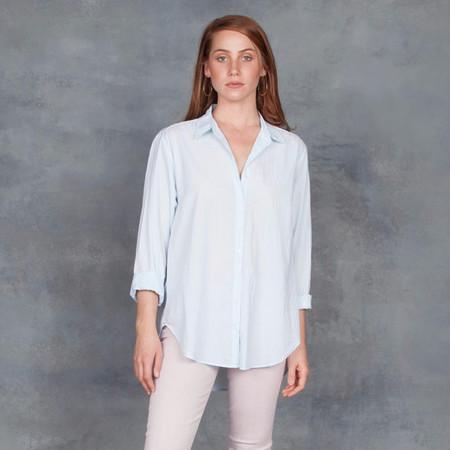 Xirena Beau Boyfriend Shirt in Aqua Mist