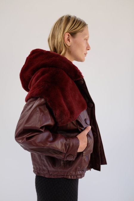 OOFWear Vegan Leather Jacket - Claret