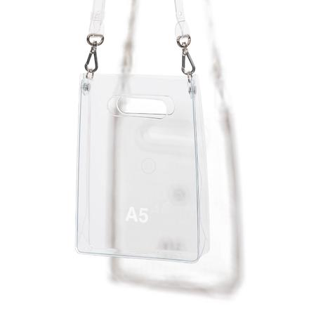 nana-nana PVC A5 Bag - white