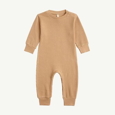 kids unisex Baby Long Sleeve Romper - ginger