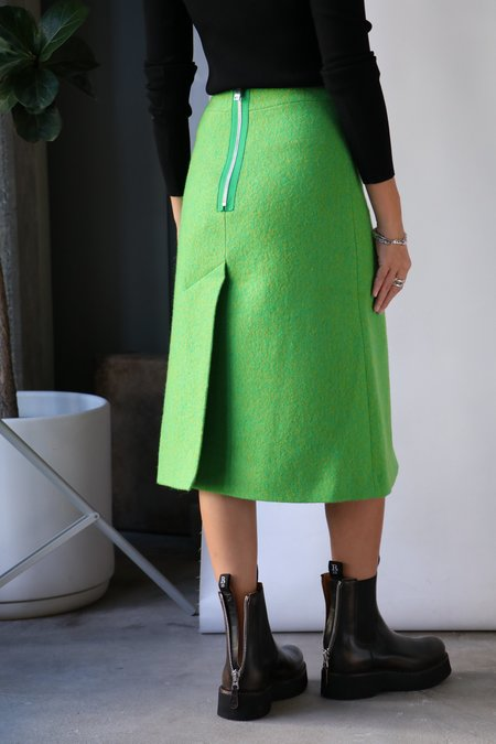 Ganni Midi Skirt - Flash Green