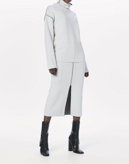 Victoria Beckham Merino Column Midi Skirt