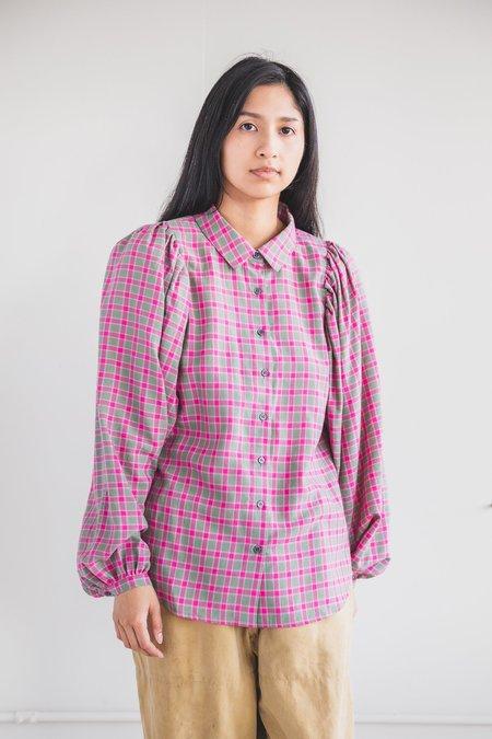Caron Callahan Alastair Shirt - Petunia Plaid