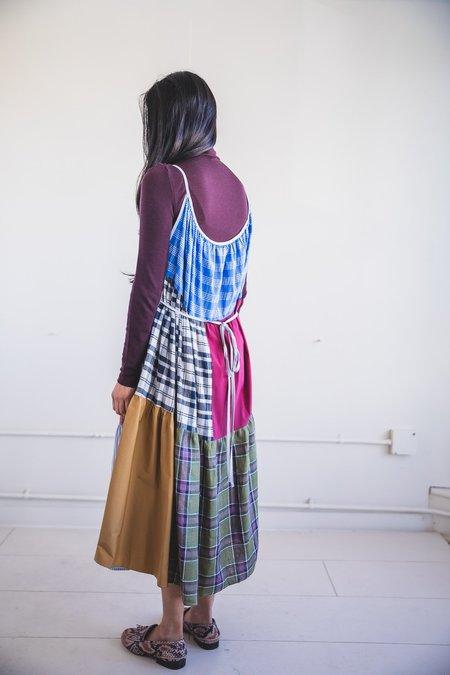 LA RÉUNION PATCHWORK WRAP DRESS - Multi