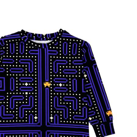 kids unisex Romey Loves Lulu Vintage Video Game Long Sleeve Shirt - blue