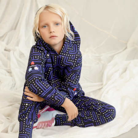 kids unisex Romey Loves Lulu Vintage Video Game Sweatpants - blue