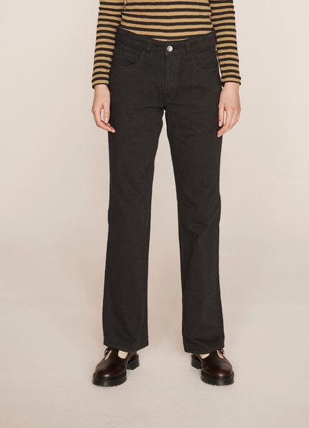 YMC Canyon Organic Cotton Twill Trousers - Black