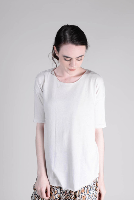 Raquel Allegra Basic Tee - Dirty White