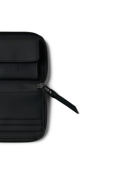 Rains Small Zip Wallet - Black