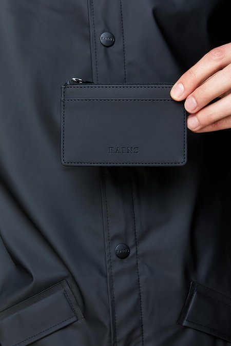 Rains Zip Cardholder wallet - Black