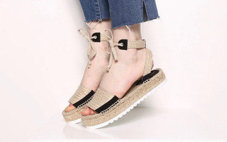 Intentionally Blank SUN Espadrille Black