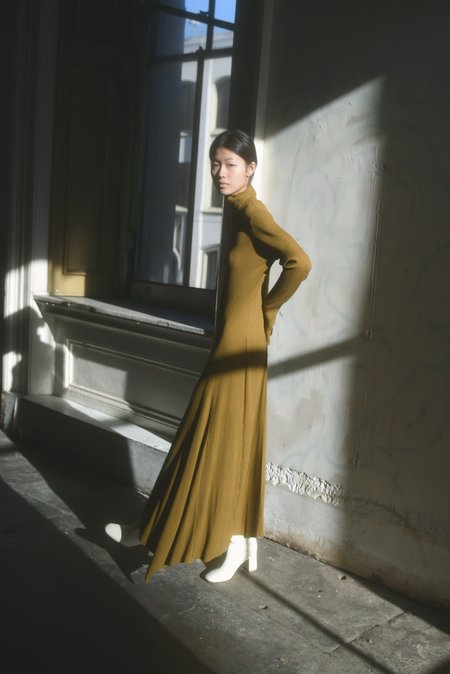 Kamperett Copy of MOOR TURTLENECK DRESS -  CAMEL