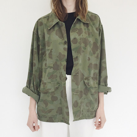 Unisex Johan Vintage Camouflage Jacket