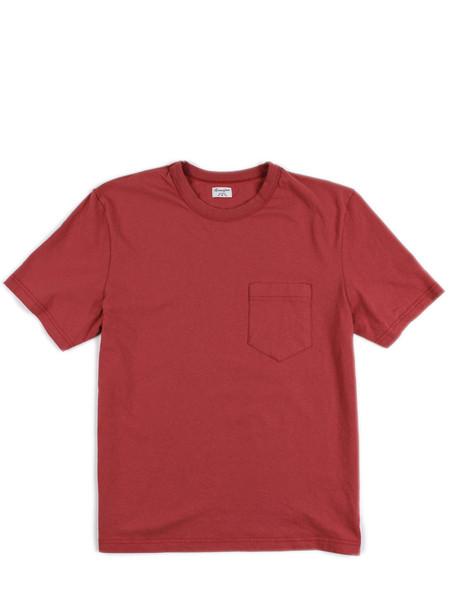 Homespun Dad's Pocket Tee Red