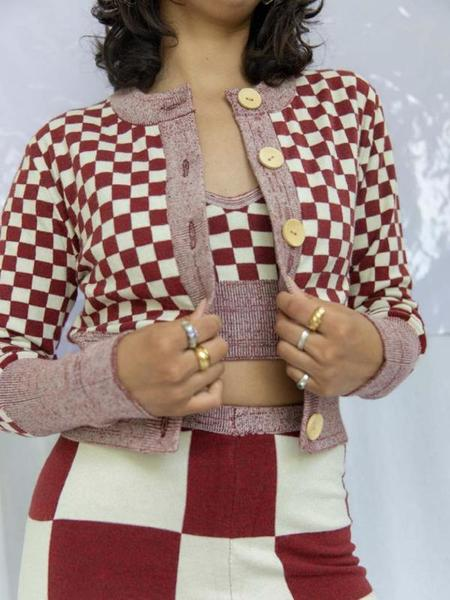 Find Me Now Presley Knit Cardigan - Red Wood