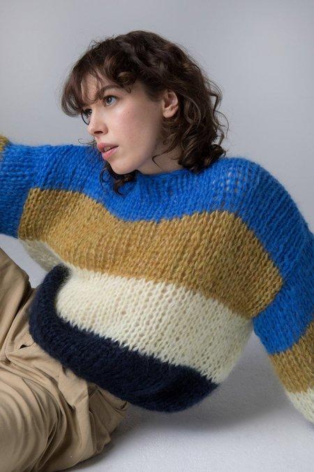 Maiami Mohair Big Sweater - Color Block