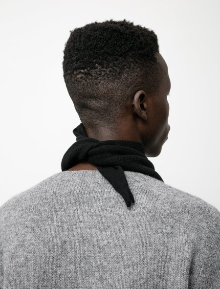 Margaret Howell MHL Scout Scarf - Lambswool Black